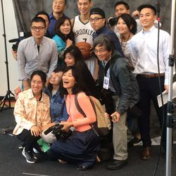 Jeremy Lin with Chinese Language media