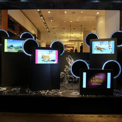 """The <a href=""""http://ny.racked.com/archives/2012/11/15/watch_electric_holiday_the_video_from_barneys_and_disney.php"""">Electric Holiday</a> video display at <b>Barneys</b>"""