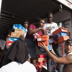 Save Money Save Lives handed out  free shoes.   Rick Majewski/For the Sun-Times