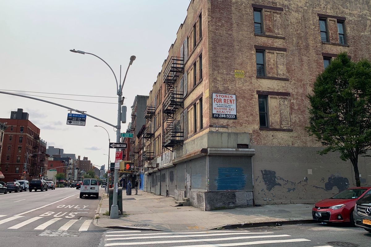The MTA said buildings on Second Avenue between 120 and 119 streets needed to acquire for the eventual construction of the 2nd Avenue Subway, Sept. 16, 2020.