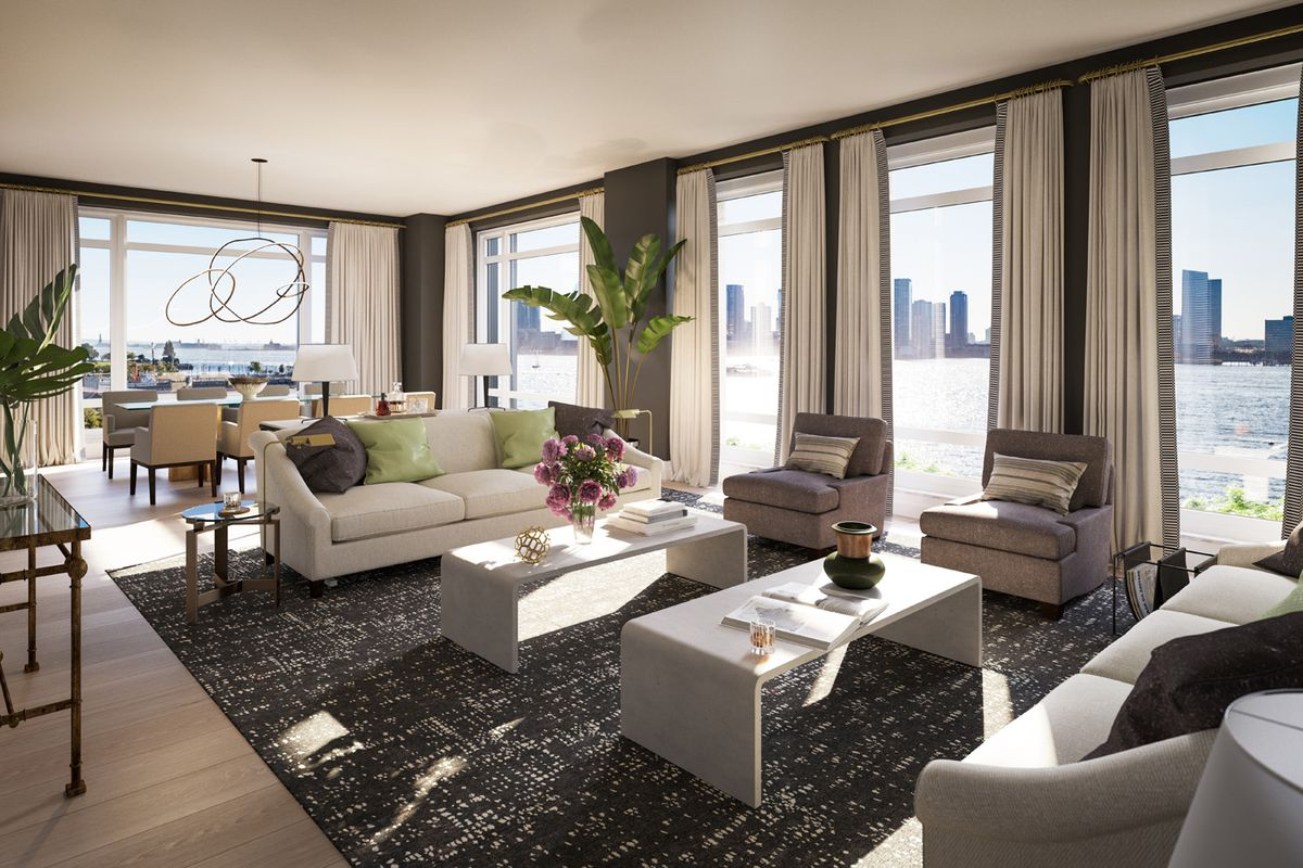 rendering of a luxury condo living room