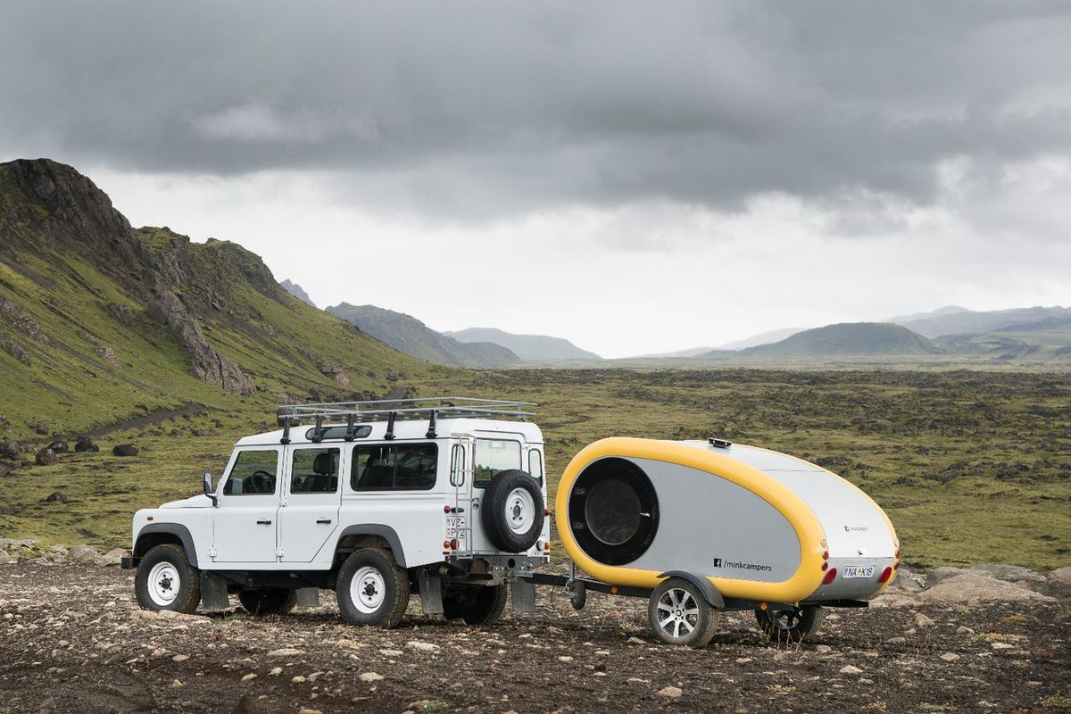 Tiny Teardrop Camper Offers A Warm Cocoon For Rent In Iceland Curbed