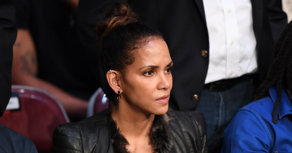 Halle Berry supports friend and co-star Valentina Shevchenko at UFC 247