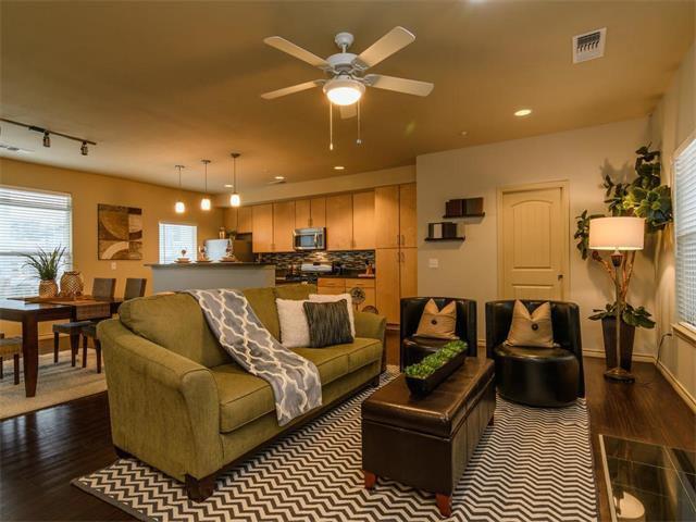 interior of condo living room with contemporary furniture