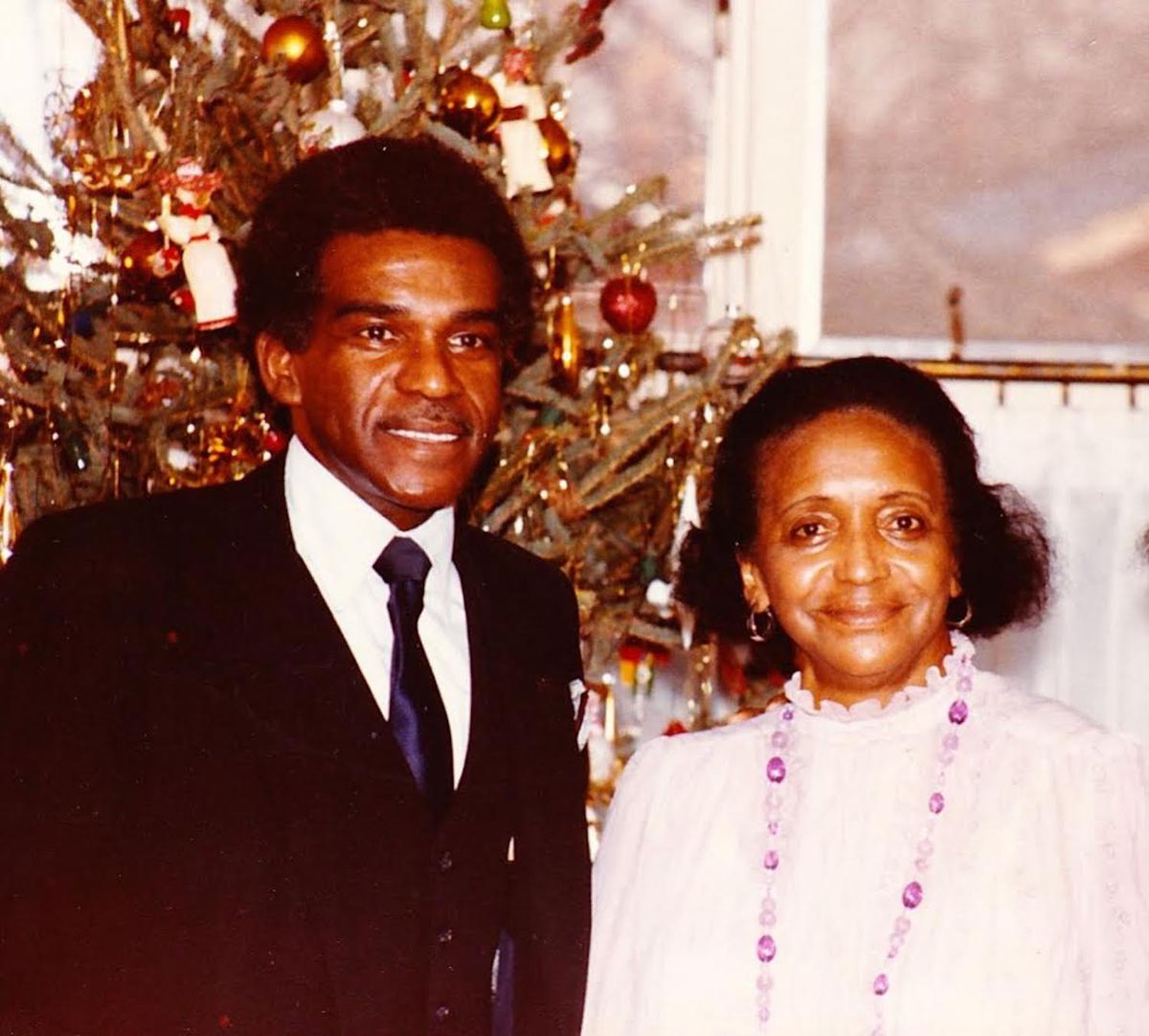 Walter McFall with his first scientific role model, his mother Theresa Larcena McFall.