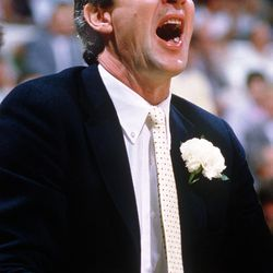 Jerry Sloan was an assistant coach along with Scott Layden helping coach Frank Layden in the 1985-86 season.