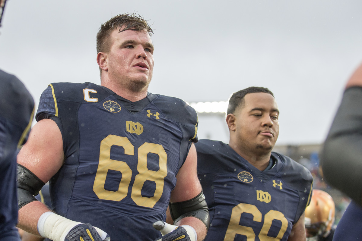 6be8bb31 NFL DRAFT 2018: Notre Dame Football's Mike McGlinchey Drafted By San ...