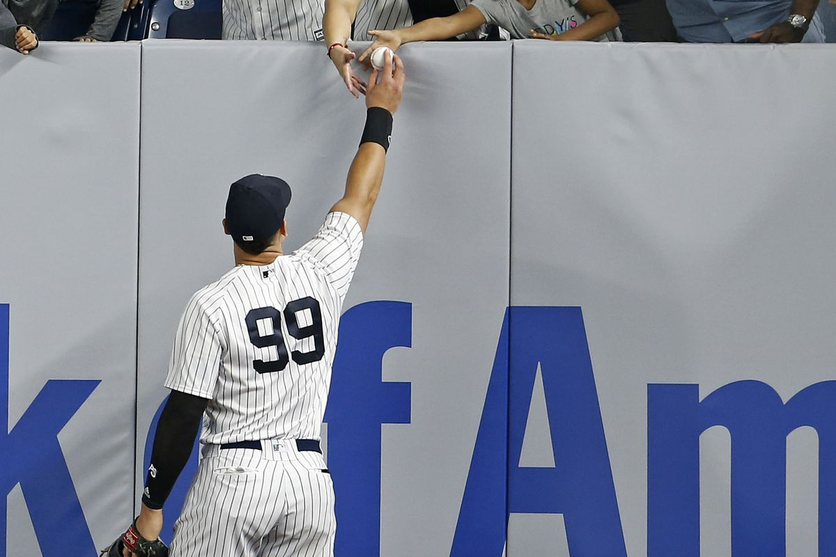 Aaron Judge played the field on Friday, and could return to the lineup this week against Boston.