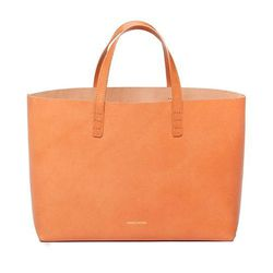 """Like the other perfect tote, but longwise. <a href=""""http://www.stevenalan.com/SMALL-LEATHER-TOTE/98843,default,pd.html"""">Mansur Gavriel small tote</a>, $425 at Steven Alan."""