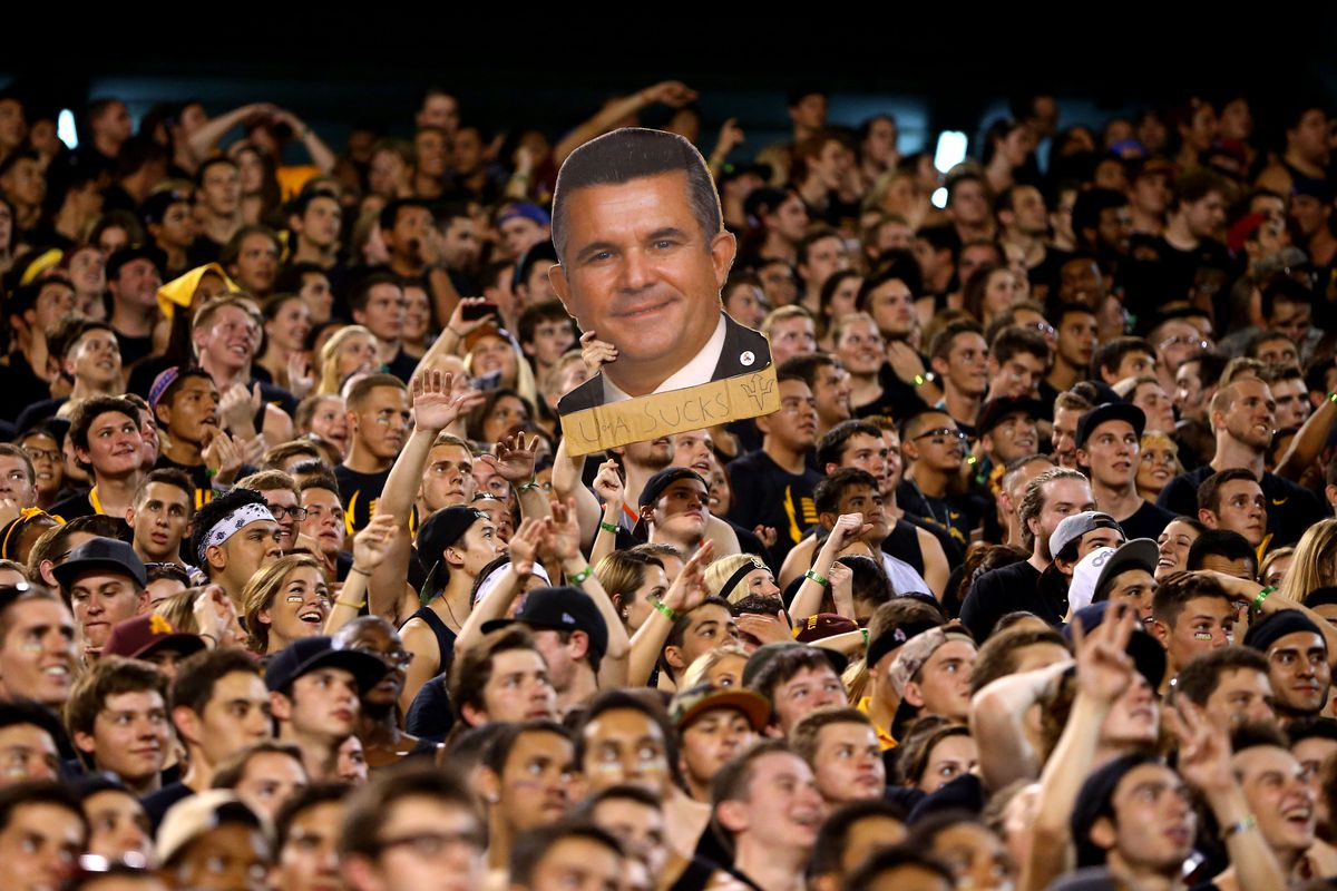 Is Todd Graham still smiling after the drubbing at the hands of UCLA at home?