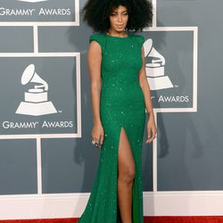 Solange also wore green.