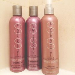 """I have super wavy hair, if I don't spend time trying to straighten it. Unfortunately, it tends to look out of control with frizz. Thankfully, I was recently introduced to a brand called <b>Simply Smooth</b> and their <a href=""""http://americanculturehair.co"""