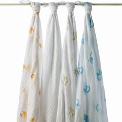 """<i>Aden + Anais Organic Safari Swaddling Wrap at <a href=""""http://www.baby-koo.com/organic-swaddling-wrap-safari.html"""">Babykoo</a> (188 Needham St., Newton)</i> <br> At just a day old, George reportedly headed home to Kensington Palace wrapped in an Aden"""