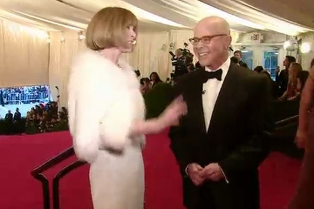 William Norwich interviews Anna Wintour for Vogue.com's live stream at last year's Met Ball
