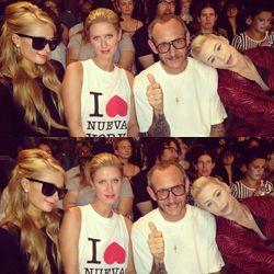 """Checking out @JeremyScott's runway show with @NickyHilton @IggyAzalea & Terry Richardson."" - Paris Hilton/<a href=""http://instagram.com/p/eIiFVPqgMt/"">Instagram</a>"