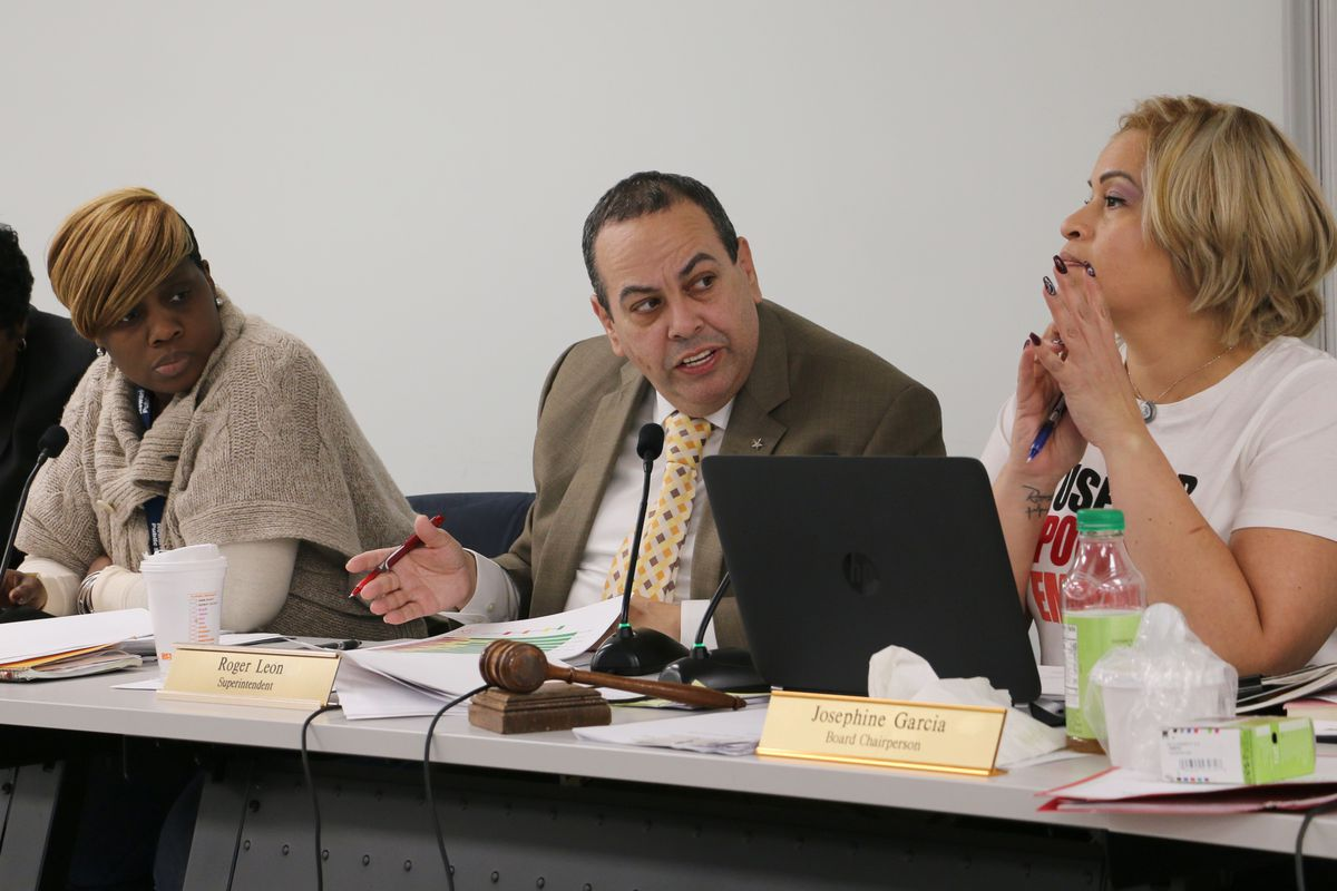 Superintendent Roger León  recently made a deal with the teachers union to settle grievances from their 2012 contract.