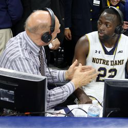 Grant and Dickie V after the game
