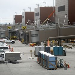 Construction continues on the new Salt Lake International Airport in Salt Lake City on Friday, May 22, 2020.