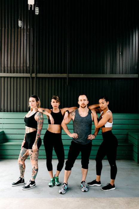 A photo of the exercise instructors to run lululemon's Sweat Shed.