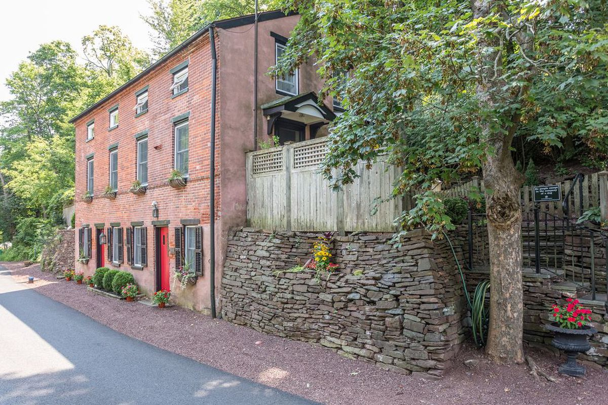 renovated 18th century brick house built into the hillside asks 799