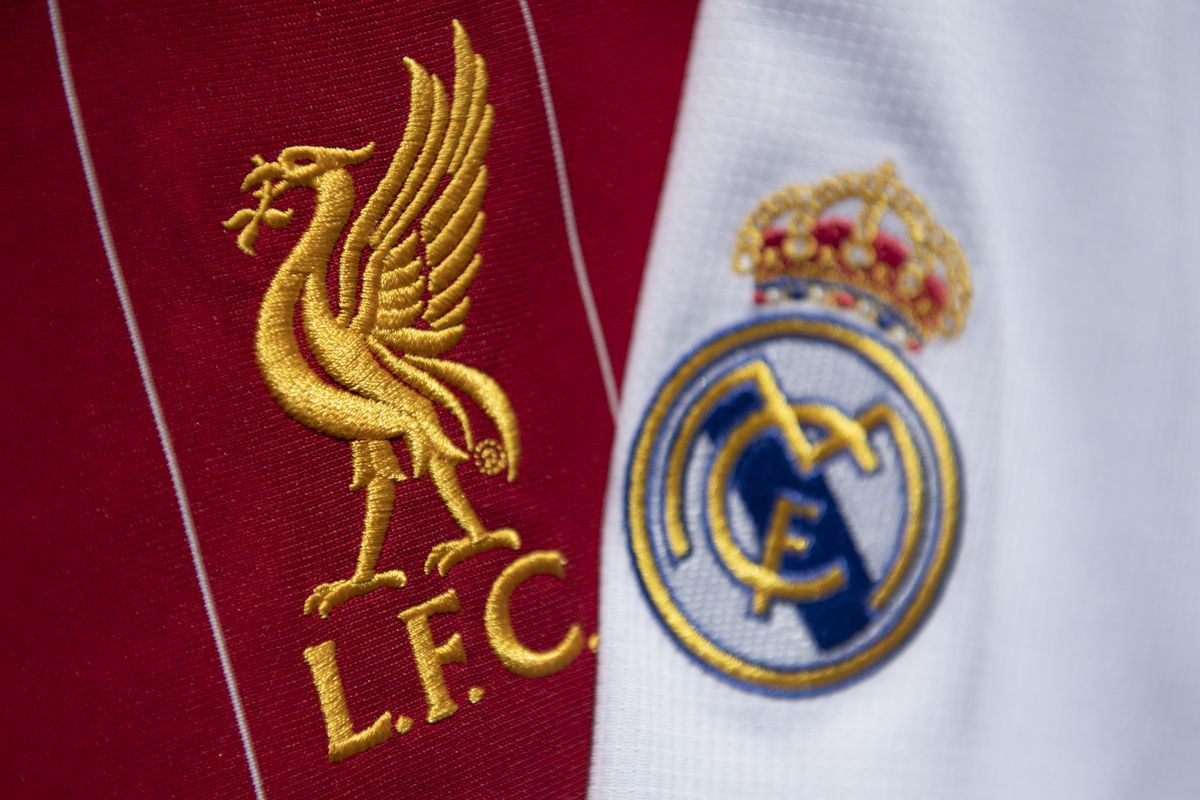 The Liverpool FC and Real Madrid Club Badges