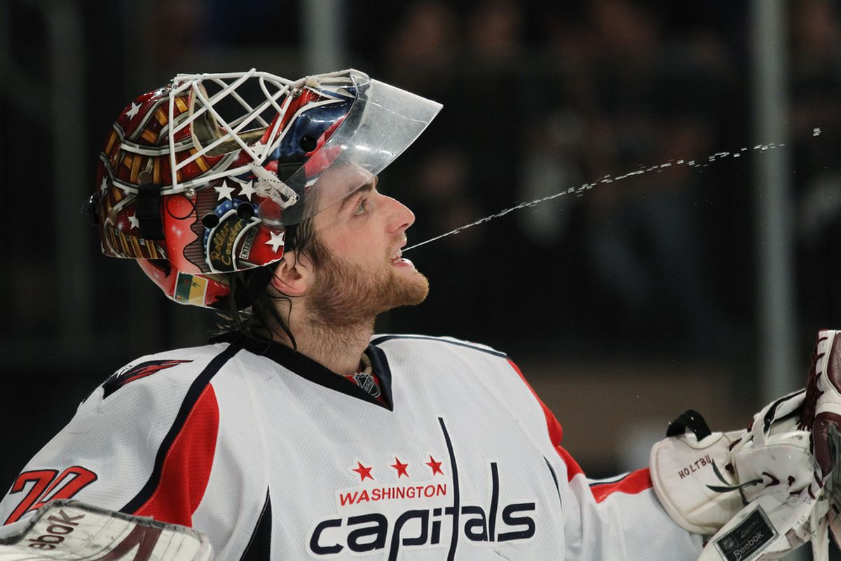 They call him spider-throat. (Photo by Bruce Bennett/Getty Images)