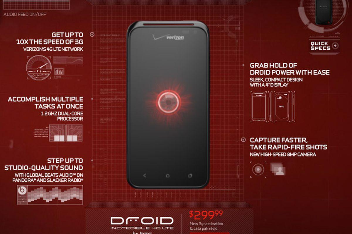 Verizon's next HTC phone (Droid Incredible 4G LTE?) won't be a