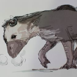 A drawing of the Boy and Trico.