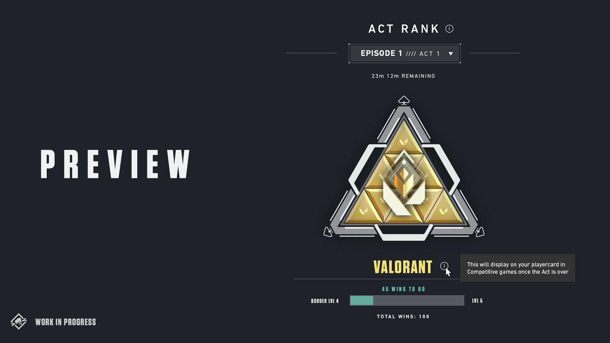 A work in progress of Valorant's Act Rank Badge