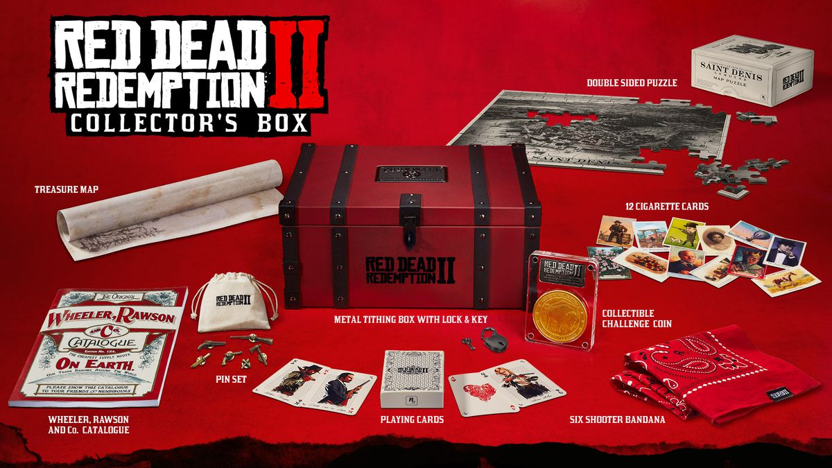 Red Dead Redemption 2 Collector's Box contents