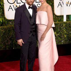 Matthew McConaughey and Camila Alves in Monique Lhuillier.