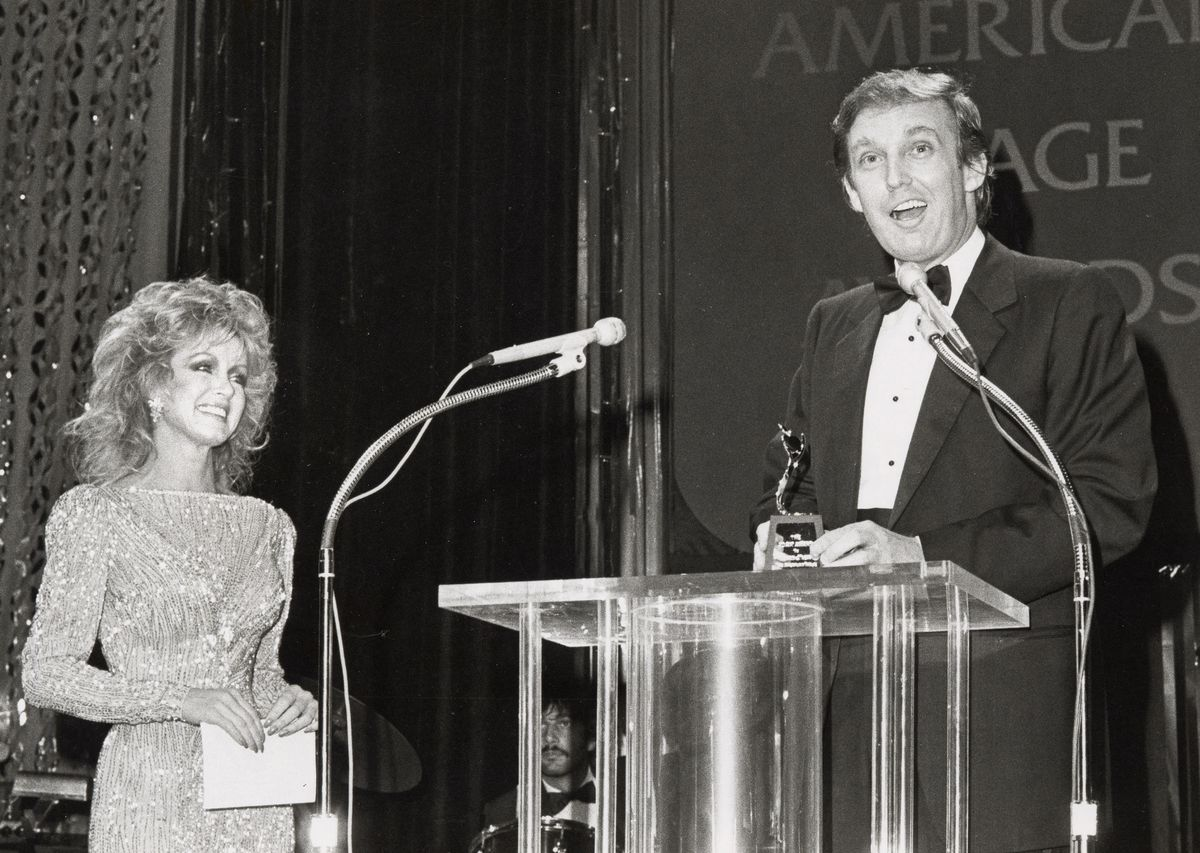 Donald Trump at the 1983 American Image Awards in New York.
