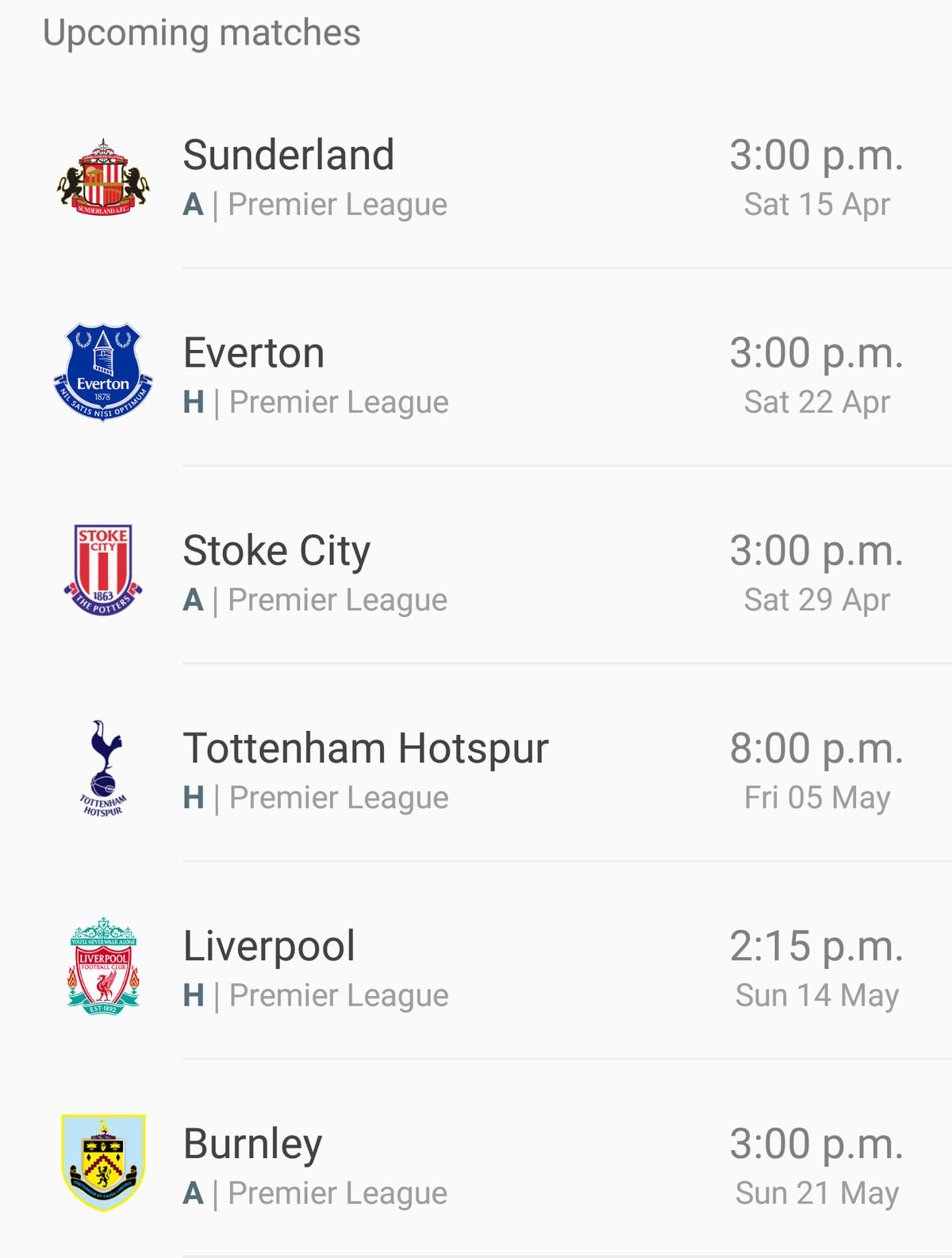 West Ham upcoming fixture