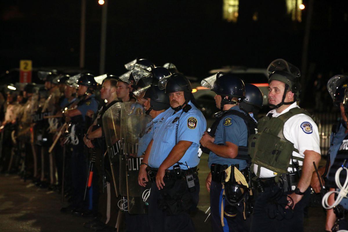 Multiple law enforcement agencies Ferguson