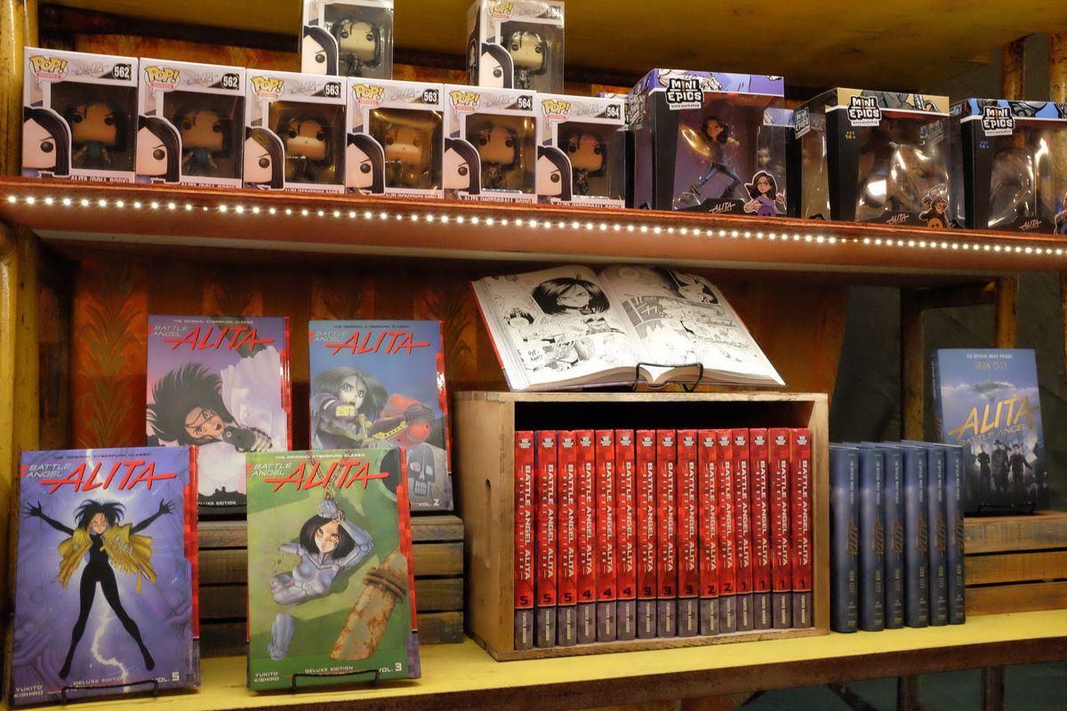 The Alita gift shop at Passport to Iron City