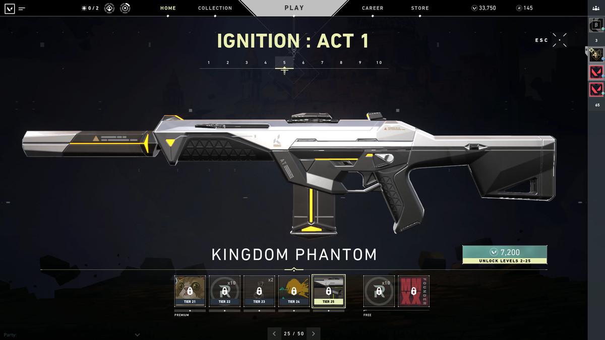 Valorant's Kingdom Phantom Skin