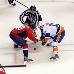 Backstrom and Strome Faceoff