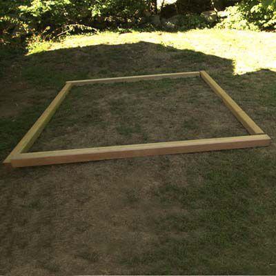 Wood Base Perimeter For Sandbox