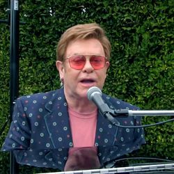 """Sir Elton John performs during """"One World: Together At Home"""" presented by Global Citizen on April, 18, 2020. The global broadcast and digital special was held to support frontline healthcare workers and the COVID-19 Solidarity Response Fund for the World Health Organization, powered by the UN Foundation."""
