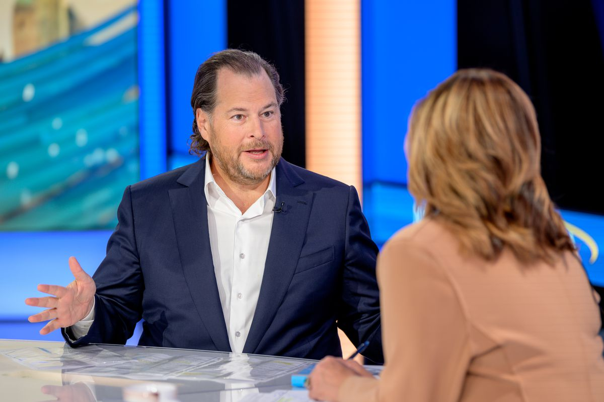 """Salesforce Founder & Co-CEO Marc Benioff Visists """"Mornings With Maria"""""""
