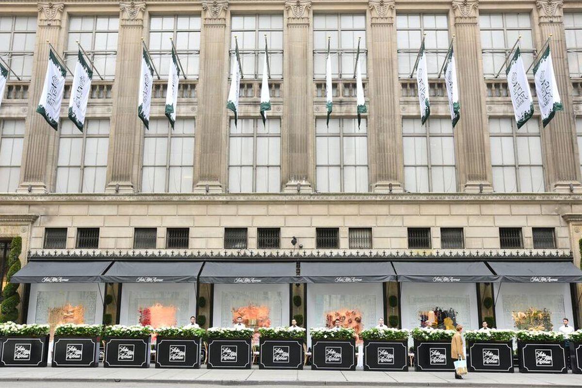 c583cc9dd3c Saks Fifth Avenue s Newest Windows Features Flowers You Won t Sneeze ...
