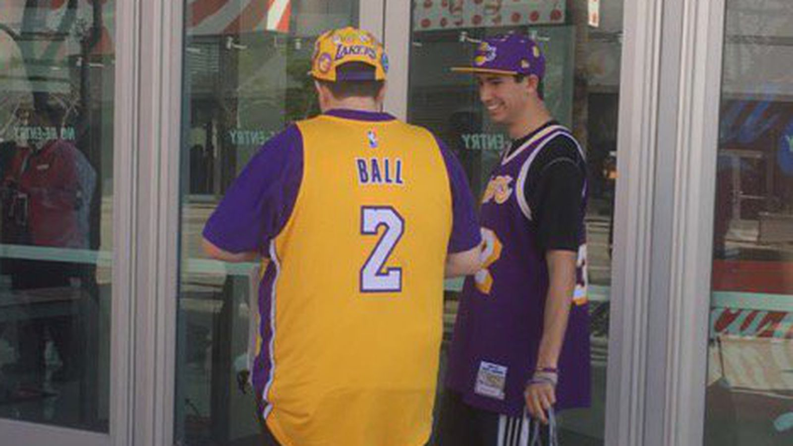 separation shoes d706c 84572 Lonzo Ball in the new Nike Jerseys Lakers t