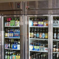 Lots of bottled options available to grab and go