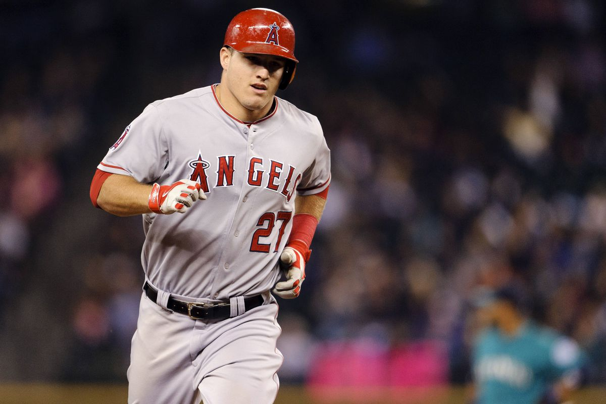 I haven't written about Mike Trout much lately. He's mentioned in passing in this post, which is worth a picture.