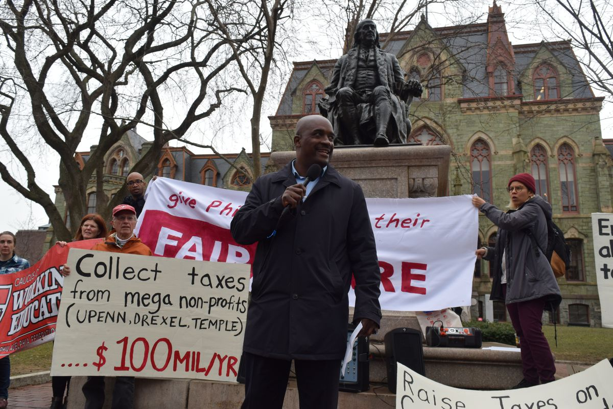 Our city our school protest for PILOT