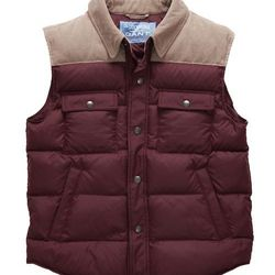 """<strong>GANT by Michael Bastian</strong> Down Shirt Vest in Red, <a href=""""http://us.gant.com/the-down-shirt-vest-burgundy"""">$325</a> at GANT"""