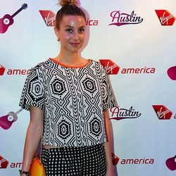 Whitney Port wearing an Asos top, vintage shorts, Tom Ford shoes and a Rebecca Minkoff bag