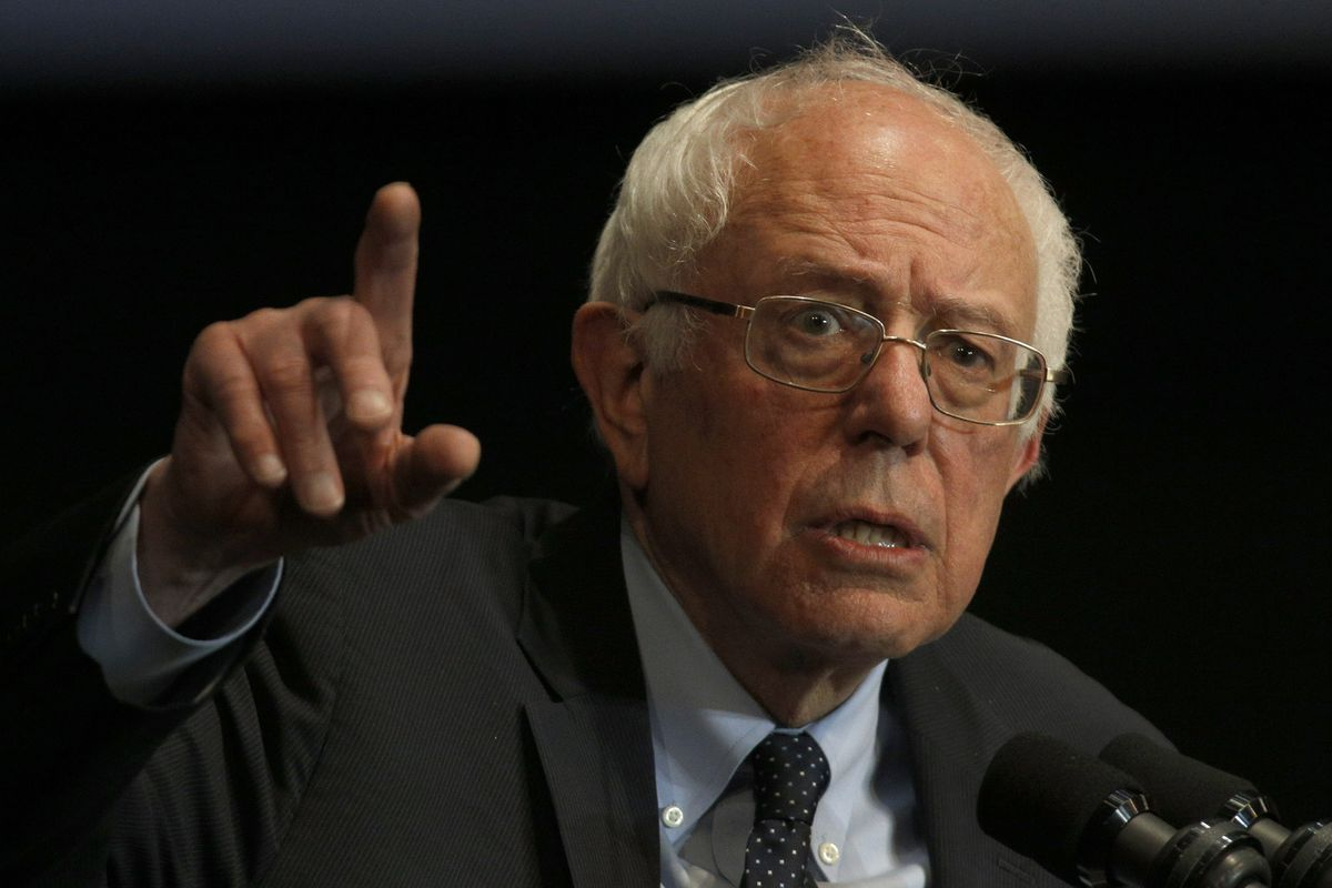 Sanders holds a rally in Birmingham for Martin Luther King Jr. Day.