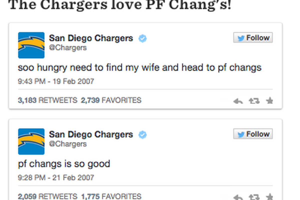 7ea2891e3df The San Diego Chargers' twitter account is @Chargers, which makes sense.  However, once upon a time, @Chargers was not the official voice of the San  Diego ...