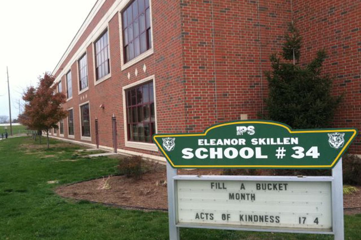 IPS School 34 saw its grade jump from F to B thanks to improving test scores.
